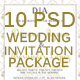 10 Wedding Invitation Package #3