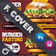 Fast Food Burger Cover Templates