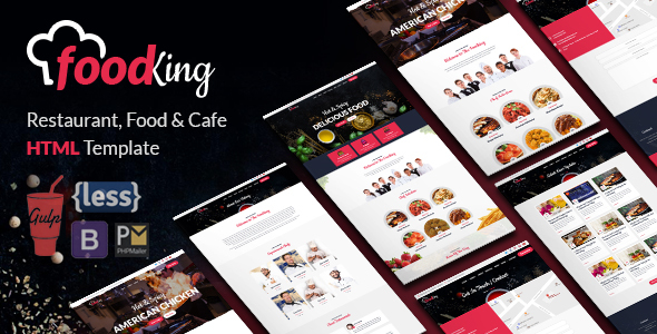 FoodKing - Restaurant, Food & Cafe HTML Template