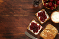 Sandwich with Cherry Jam