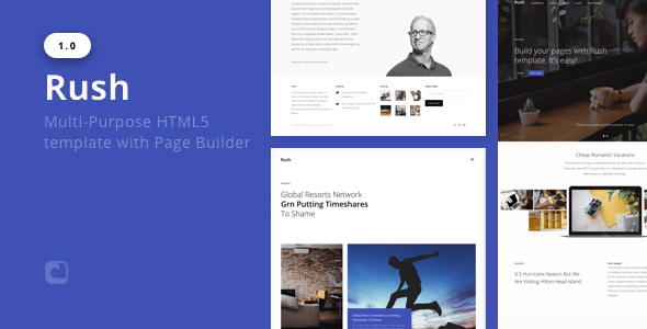 Rush – Multi-Objective HTML with Web page Builder (Corporate)