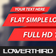 Flat Simple Lower Thirds 5