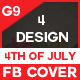 Facebook Cover - 4th Of July