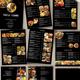 Restaurant Menu black - 9 Pages