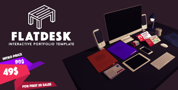 FlatDesk - Innovative Portfolio Template
