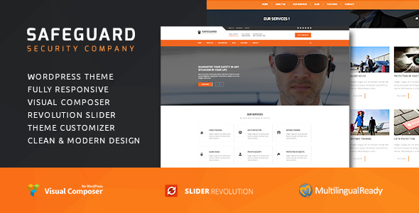 Safeguard - Security Services WordPress theme