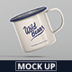 Enamel Mug Mockup
