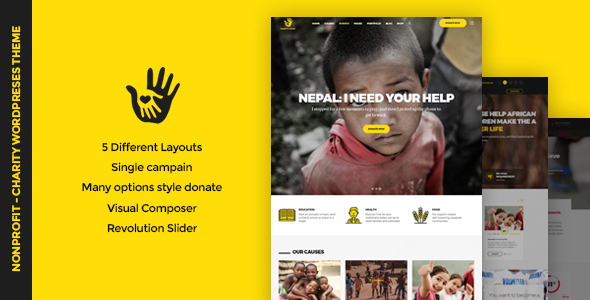 CharityHeart - Charity | Single Charity | Crowdfunding | Nonprofit Responsive WordPress Theme