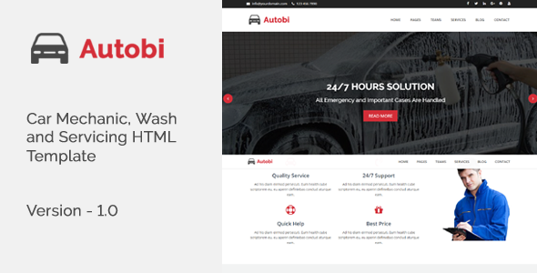 Autobi - Car Mechanic, Wash and Servicing HTML Template