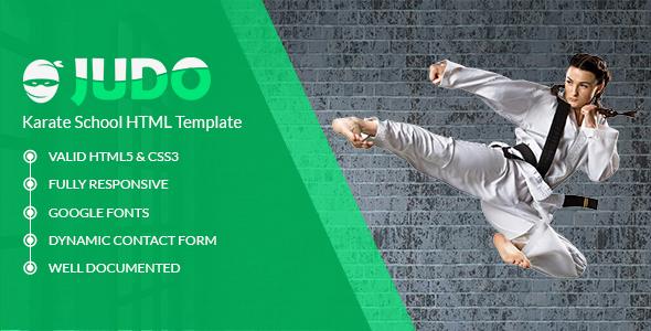 Judo - Karate School HTML Template
