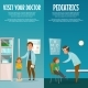 Pediatrician and Kid Vertical Banners