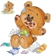 Vector Brown Teddy Bear Sweet Tooth