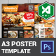 A3 Food Poster Template (Light & Dark)