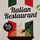 Italian Restaurant Flyer Template
