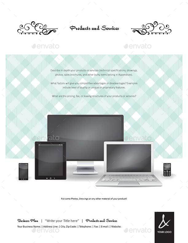 35 Pages Business Plan Template - Letter Format by Keboto ...