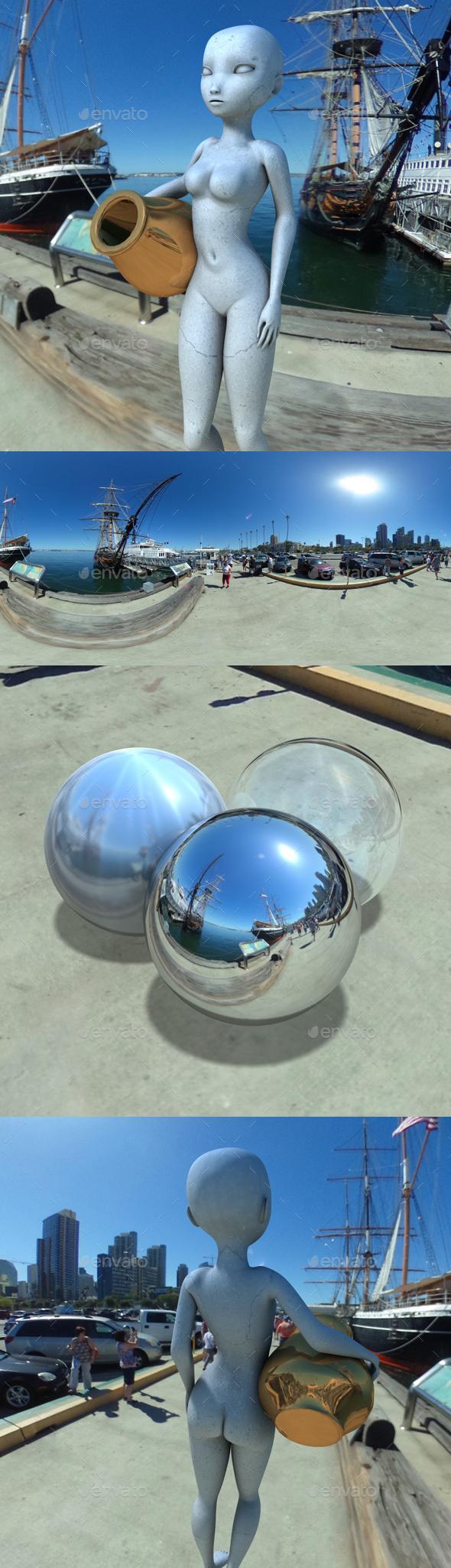 3DOcean Sunny San Diego Harbour HDRI 20053014