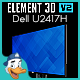 Dell U2417H for Element 3D