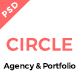CIRCLE Creative Agency and Portfolio Template