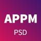 Appm - App Landing PSD Template