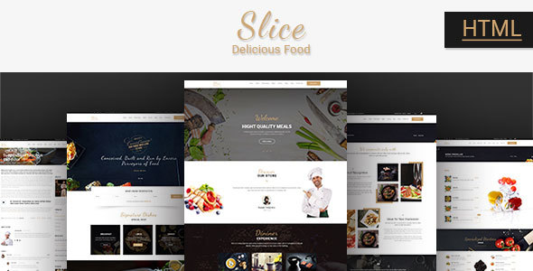 Image of Slice Restaurant - Responsive Bootstrap Template
