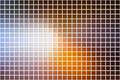 Brown orange white square mosaic background over white