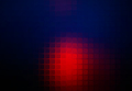 Deep blue and red abstract rounded mosaic background