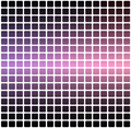 Purple blue pink rounded mosaic background over white square