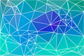 Turquoise blue purple geometric background with mesh.