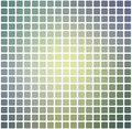 Yellow purple grey rounded mosaic background over white square