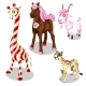 Stylized Horse, Cougar, Goat, Giraffe Under Sweets