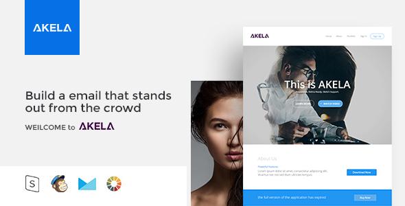 Image of AKELA - Responsive Email Template Minimal