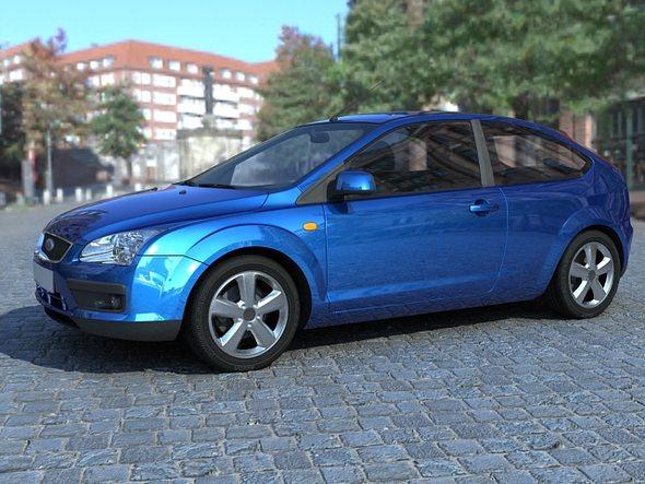 3DOcean Ford Focus 2007 3doors 20054339