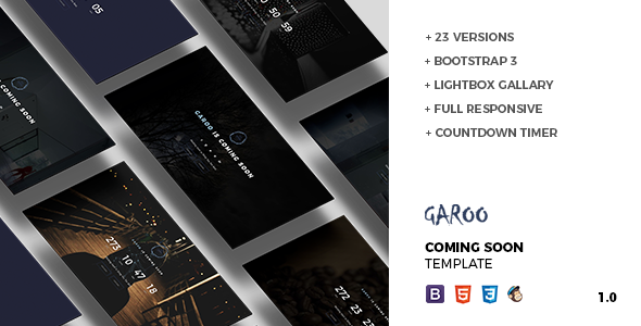 GAROO – Coming Soon Template