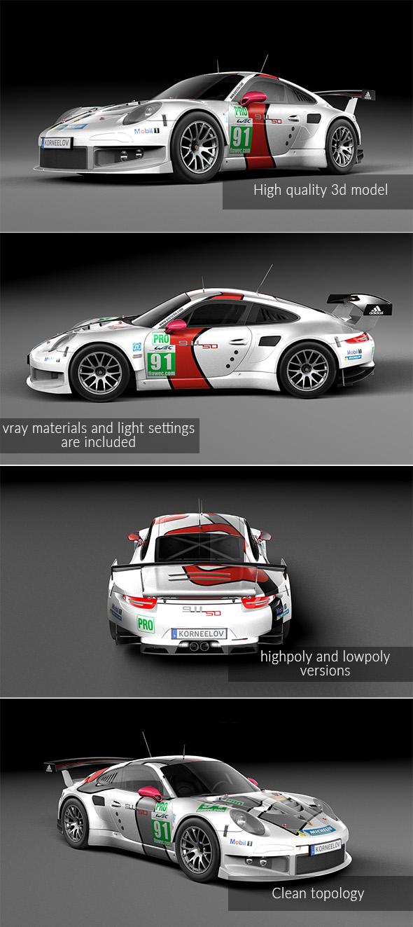 3DOcean Porsche 911 Carrera RSR 2013 20054871