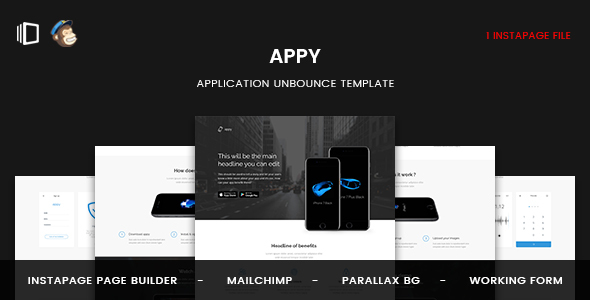 Appy - Application Instapage Template