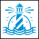 Lighthouse Waves Logo