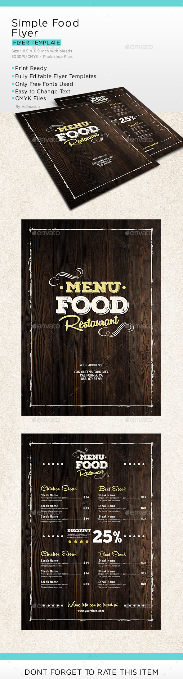 Simple Food Menu Flyer
