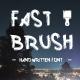 Fast Brush Font Handmade
