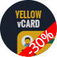 Yellow vCard Template