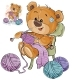 Vector Illustration of a Brown Teddy Bear Sitting