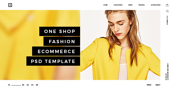 ONE SHOP - Fashion Ecommerce PSD Template