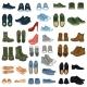 Set of 37 Shoe Illustrations