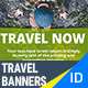 Travel, Vacation Banners