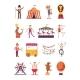 Carnival and Circus Cartoon Characters