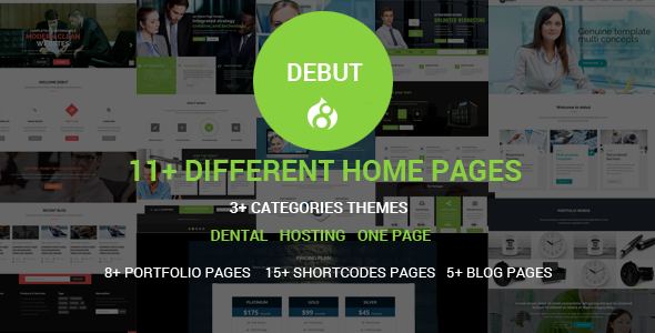 Debut - The Multi-Purpose Responsive Drupal 8 Theme