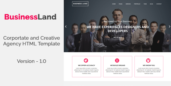 BusinessLand - Corportate and Creative Agency HTML Template
