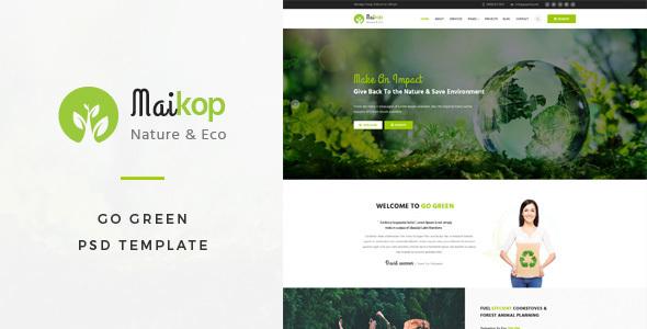 Maikop : Go Green PSD Template