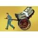 Businessman Rickshaw Transports Money