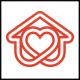Heart House Line Logo