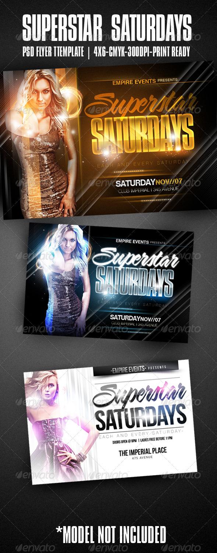 GraphicRiver Superstar Saturdays Party Flyer 557482